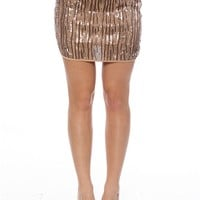 Streamers at Midnight Sequin Mini Skirt