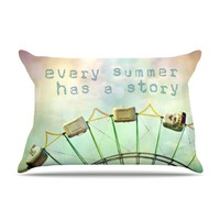 KESS InHouse Every Summer Has a Story Fleece Pillow Case