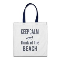 Zazzle Keep Calm Beach Tote Bag