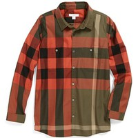 Burberry 'Mini Camber' Woven Shirt (Toddler Boys, Little Boys & Big Boys) | Nordstrom