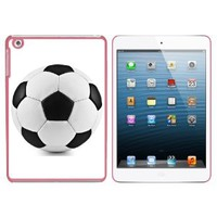 Soccer Ball Snap On Hard Protective Case for Apple iPad Mini - Pink