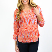 Bright and Bubbly Blouse - Orange