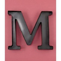 "Personalized Letter ""M"" Metal Wall Wine Cork Holder - Monogram Wall Art"