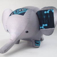 Cyberpunk futuristic robot stuffed animal elephant