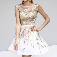 Sequined Sleeveless Dress by Sherri Hill