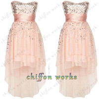 Fashion Chiffon Ball Gown sweetheart Mini wedding dress Prom Dress/Homecoming Dress,bridesmaid dress