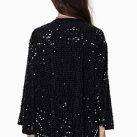 Motel Live For The Night Sequin Kimono