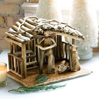 All Gifts - Driftwood Nativity Set