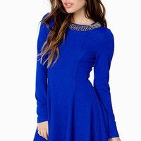 Jazmin Beaded Neck Flare Dress