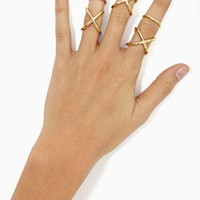Cross Over Ring Set