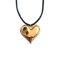 Wooden Jewelry, Wooden Heart Necklace, Wooden Heart Pendant, Wood Carved Pendant, Wood Pendant, Heart Carved Pendant, Wooden Jewelry
