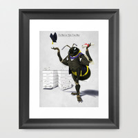 To Bee or Not Too Bee Framed Art Print by Rob Snow