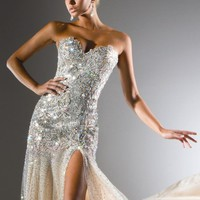 Sweetheart Embellished Gown by Tony Bowls Collections