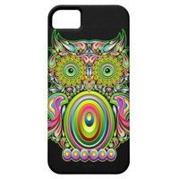 Owl Psychedelic Popart iPhone 5 Cases