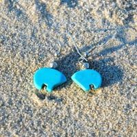 Zuni Turquoise Bear Earrings