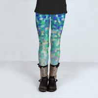 Leggings Mosaic Sparkley Texture 1 by Medusa81 (Leggings)