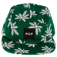 The Snowlife 5 Panel Hat in Green