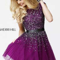 V-Back Cocktail Dress by Sherri Hill