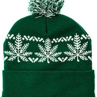 The Nordic Beanie in Green