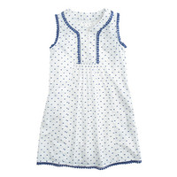 GIRLS' DRESS IN TEXTURED DOT