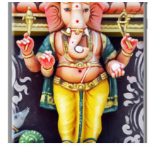 Ganesha God Statue By BluedarkArt for Apple iPhone 5