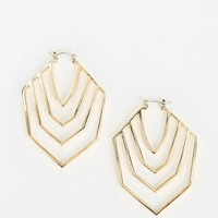 Hexagon Hoop Earring - Urban Outfitters