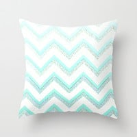 NUDE MINT Throw Pillow by Monika Strigel