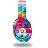 Spectrums Decal Style Skin original beats by dre studio - (HEADPHONES NOT INCLUDED) geometric rainbow colorful