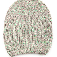 Khaki Sequined Colored Beanie