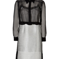 Alberta Ferretti - Sheer Top Shirtdress