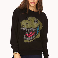 Quirky Studded Dinosaur Sweatshirt