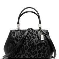 COACH Madison Mini Satchel in Ocelot Chenille