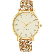 kate spade new york Gold Glittering Metro Grand Boxed Watch Set | Dillards.com