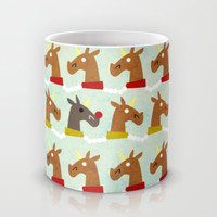 Red Nose Unicorn Mug by That's So Unicorny