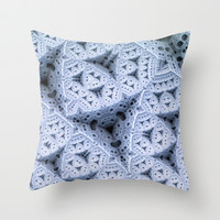 Icey - Throw Pillow by Lyle Hatch
