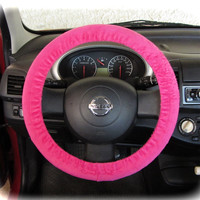 Steering-wheel-cover-for-wheel-car-accessories-Neon-Pink