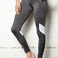 Heathered Colorblocked Performance Legging