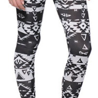 Workshop Black & White Aztec Printed Leggings