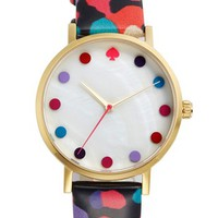 kate spade new york 'metro - dancing floral dot' watch, 34mm