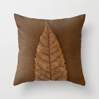 Dead Brown Throw Pillow by RichCaspian
