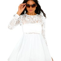 Missguided - Ynes Sequin Mesh Bodice Skater Dress