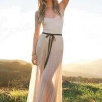 FP-1 Wrapped In Pleats Maxi Skirt at Free People Clothing Boutique