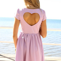 SABO SKIRT Lilac Heart Back Dress - (No Colour Specified) - 48.0000