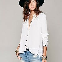 Ruffled Hem Buttondown