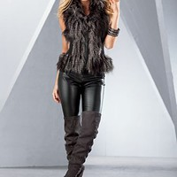 Multi Faux Fur Vest