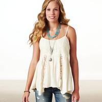 AE EMBROIDERED MESH CAMI