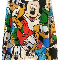 ROMWE | ROMWE Mickey Mouse & Friends Print Loose Hoodie, The Latest Street Fashion