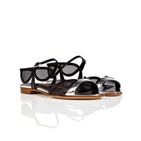 Rupert Sanderson - Patent Leather/Mesh Morwenna Sandals