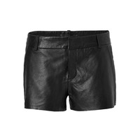 Zadig & Voltaire - Leather Simio Short in Black