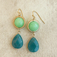 In the Forrest Earrings [4584] - $14.00 : Vintage Inspired Clothing & Affordable Dresses, deloom | Modern. Vintage. Crafted.